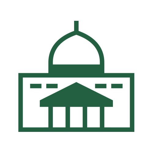 Green capitol building icon