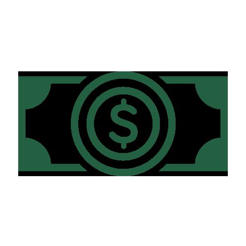 Green dollar bill icon